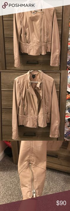 Jacket Tan leather jacket from Express gently worn Express Jackets & Coats