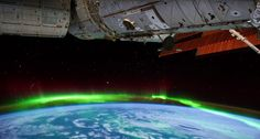 Magical northern lights footage from the International Space Station.