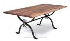 Tuscan Table with Live Edge Slab