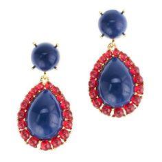 Teardrop cabochon earrings ($78) ❤ liked on Polyvore