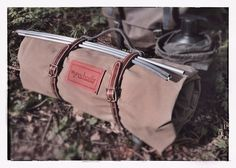 Adventurer Canvas Bedroll with optional leather bedroll straps, shown with our Swiss Army Mountain Pack vintage rucksack Camping Glamping, Camping Gear, Outdoor Camping, Outdoor Gear, Bushcraft Camping, Ultralight Backpacking, Tarp Shelters, Fish Camp, Waxed Canvas
