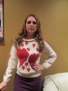 50 OFF White Wool Sweater Red Heart Jacket Red Heart by KnitSew4U, $95.00