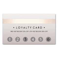 Beauty Salon 6 Punch Customer Loyalty Card Business Card