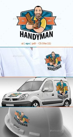 Buy Handyman Fun Mascot logo by BetterflyFX on GraphicRiver. Handyman Fun Mascot logo A vector logo for handyman, construction, and other related business services. Logo Builder, Handyman Logo, Logos, Plumbing Emergency, Plumbing Problems, Service Logo, Government Jobs, Vintage Advertisements, Logo Templates