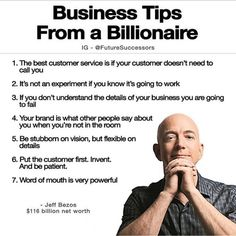 5 Essentials For Entrepreneurial Success Business Tips from a Billionaire - Jeff Bezos Business Money, Business Advice, Business Quotes, Business Planning, Online Business, Business Education, Start Up Business, Quotes Dream, Life Quotes Love
