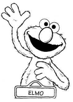 Elmo coloring pages - fun activity idea for toddlers/kids at the party
