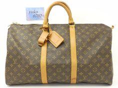 r58735 Auth LOUIS VUITTON Monogram KEEPALL 50 Travel Weekend Boston Bag M41426