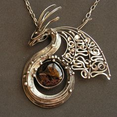 Handmade dragon necklace. Drak Ochránce II