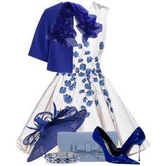 """LA FILLE des FLEURS blue"" by cavell on Polyvore"
