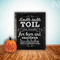 Halloween decor Printable art print wall art digital decor poster halloween party decoration fall decor autumn decor double INSTANT DOWNLOAD on Etsy, $5.00