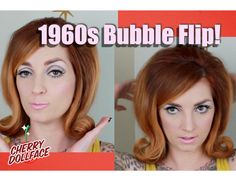 Check out this super cool 1960s bubble flip beehive! Products I used: Sexy Hair 450 Protect Spray: http://amzn.to/21yhGQ9 Sexy Hair What a Tease: http://amzn...