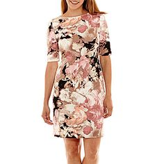 jcp | London Style Collection Elbow-Sleeve Sheath Dress