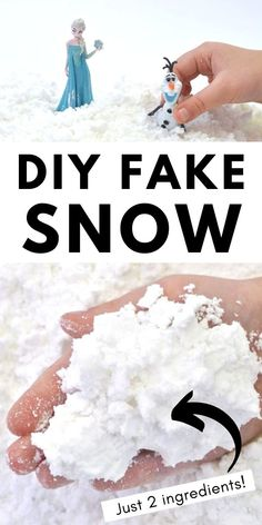 How to Make Fake Snow {In Minutes with Just 2 Ingredients!}