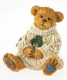Another great find on Irish Bear Figurine Teddy Bear Hug, Teddy Bears, Boyds Bears, Winnie The Pooh, Celtic, Boy Or Girl, Irish, Blue And White, Cute