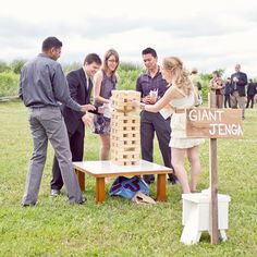 Outdoor Wedding games: Giant Jenga (could be homemade) Rustic Wedding, Our Wedding, Dream Wedding, Jenga Wedding, Wedding Songs, Wedding Entertainment, Here Comes The Bride, Wedding Trends, Perfect Wedding