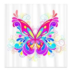 Decorative Butterfly Shower Curtain    A beautiful Decorative butterfly  $45.99
