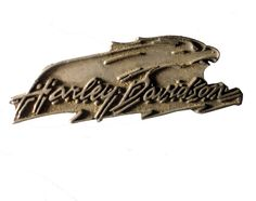 """HARLEY DAVIDSON Eagle Badge vintage pin lapel badge metal motorcycle Official Merchandise by VintageTrafficUSA  18.00 USD  A vintage Harley Davidson pin used but excellent condition. Official Harley logo on back! Measures: approx 2"""" Have some individuality = some flair! 20 years old hard to find vintage high-quality lapel/pin. These rare pins are proven to win you friends and influence people! Add inspiration to your handbag tie jacket backpack hat or wall…"""