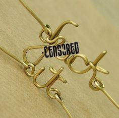 Personalized bracelet , fuck off brass wire bracelet