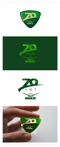 Logo celebrating the 70th anniversary of the plant UAZ. Логотип празднования 70-летия завода УАЗ.