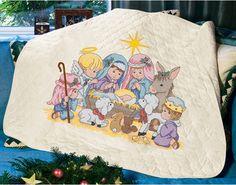 Nativity Quilt - Stamped Cross Stitch Kit