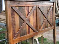Barnwood Headboard - DIY? A lot larger would be awesome too!