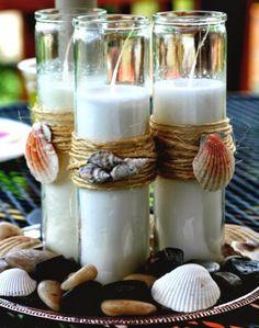 DIY Candle Holder Ideas | Top 13 DIY Coastal Beach Candles & Candle Holder Ideas