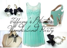 Birthday Outfit Idea for a Tiffany's / Winter Wonderland themed party.