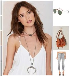 Loved this look on #cult_collection – Piling on layers of necklaces to dress up these #Essentials #NastyGal #KateBosworth #Acne #Boho #ootd #fashion #shopping #style