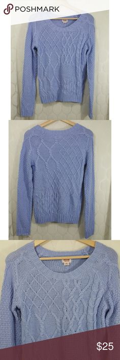 NWT Mossimo Cable Knit Sweater NWT Mossimo Cable Knit Sweater in Baby Blue. Size S. Smoke free home. Mossimo Supply Co. Sweaters