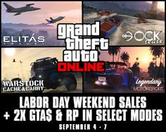 GTA 5 Offering Huge Discounts and Bonuses on the Occasion of Labor Day