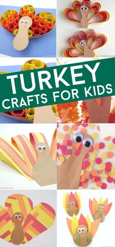 Easy turkey crafts for kids. Perfect for Thanksgiving crafts in the classroom or at your kitchen table! Use them to decorate your Thanksgiving table or hang in the window. #twitchetts #turkey #thanksgiving Thanksgiving Art Projects, Thanksgiving Crafts For Toddlers, Easy Fall Crafts, Crafts For Kids To Make, Thanksgiving Table, Kids Crafts, Christmas Tables, Christmas Christmas, Craft Stick Crafts