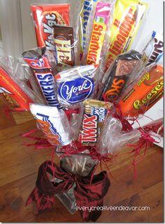 "Secret Santa ""sweet"" candy bouquet gift idea :)"