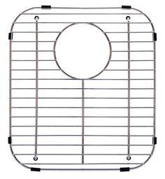 Franke Stainless Steel Universal Double Bowl Sink Grid with Rear Drain, 13 x 11 Elkay Sinks, Steel Kitchen Sink, Kitchen Sinks, Kitchen Gadgets, Sink Mats, Kitchen Sink Accessories, Double Bowl Sink, Sink Top, Sink Drain
