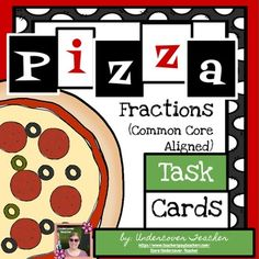 Looking+for+something+beyond+a+regular+worksheet?+Task+cards+are+the+answer!+Perfect+for+Math+stations,+small+groups,+or+individuals!+Task+cards+show+the+student+only+one+item/question+at+a+time,+which+makes+work+less+overwhelming.++These+80+fraction+Pizza+themed+task+cards+cover+all+4+operations+(addition,+subtraction,+multiplication,+and+division!