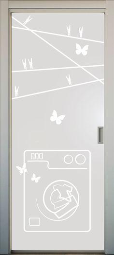 Vinilos para puertas de cocina en pinterest puertas for Puerta lavadero
