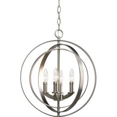 Equinox Collection Burnished Silver 4-light Foyer Pendant - $285 at Home Depot Moncton