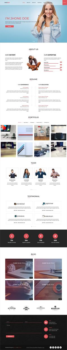 whoiam lightweight portfolio responsive joomla template - Resume Cv Joomla Template