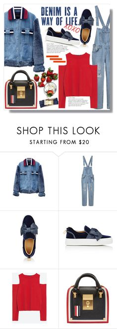 """A Way Of Life"" by queenvirgo ❤ liked on Polyvore featuring Jamie Wei Huang, BUSCEMI, Zara, Thom Browne and Tory Burch"
