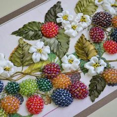 Just love the ribbonwork and beaded berries! :)
