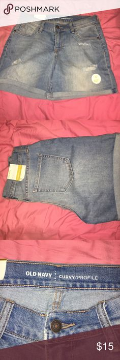 Old navy high wasted Jean shorts Never worn old navy shorts. Tag included. Just didn't fit me. Old Navy Shorts Jean Shorts