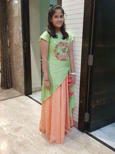 Brocade Lehenga, Half Saree Lehenga, Designer Dresses, Designer Kurtis, Full Skirt Dress, Online Fashion Boutique, Kids Fashion, Women's Fashion, Indian Girls