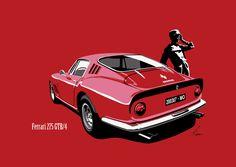 Ferrari 275GTB/4 deze schaduw wil ik gebruiken, maar dan wel van voren ;-)