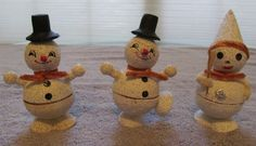 Lot of 3 Vintage Snowman Christmas Ornaments Decorations Made in Japan | eBay