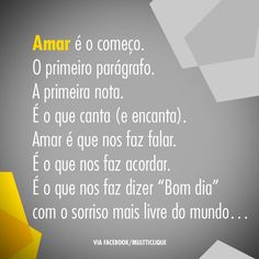 O amor nos explica tudo, galera!! ♥