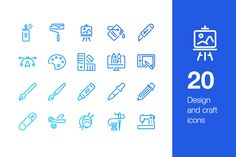 20 Design and craft icons