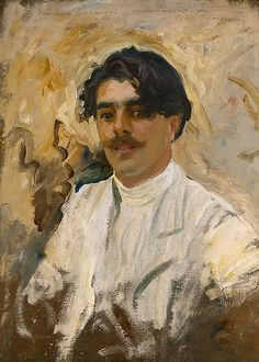 "John Singer Sargent (American, 1856–1925). Francisco Bernareggi, 1908. The Nelson-Atkins Museum of Art, Kansas City, Missouri (Gift of the Enid and Crosby Kemper Foundation), F86-26 | This work is in our ""Sargent: Portraits of Artists and Friends,"" on view through October 4, 2015."