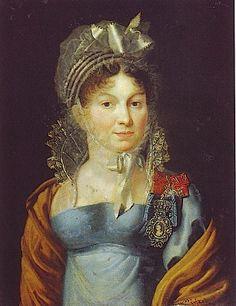 Countess Praskovia V. Musin-Pushkin (1754-1826), nee Dolgorukova by Dmitry Ivanovich Antonelli (State Russian Museum, St. Petersburg Russia)...