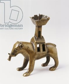 Candlestick in the shape of an elephant, possibly from Magdeburg (bronze), 13th century