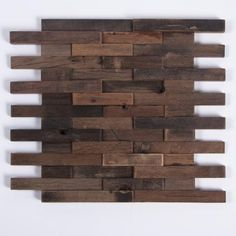 Antique Boat Wood Mosaic Tile Rustic Wood Wall Tiles Mosaic Mesh Mounted Wood Planks Make for an Easy Tile Install. Wood Wall Tiles, Wood Mosaic, Mosaic Glass, Easy Tile, Rustic Wood Walls, Diy Wood, Pallet Wood, Easy Wood Projects, Layout