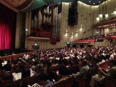 #ScalaTourJapan - 09/09/2013 - Tokyo NHK Hall - Audience at  Rigoletto's Premiere http://www.teatroallascala.org/en/season/tours/2012-2013/japan/rigoletto-giuseppeverdi-2013.html